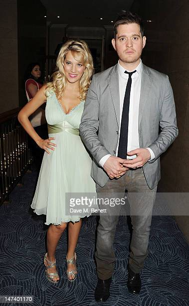 Michael Buble and Luisana Lopilato arrive at the Nordoff Robbins O2 Silver Clef Awards on June 29 2012 in London England