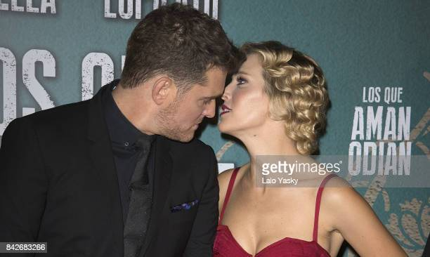 Michael Buble and Luisana Lopilato attend the ''Los Que Aman Odian' premier at the Dot Shopping Cinema on September 4 2017 in Buenos Aires Argentina