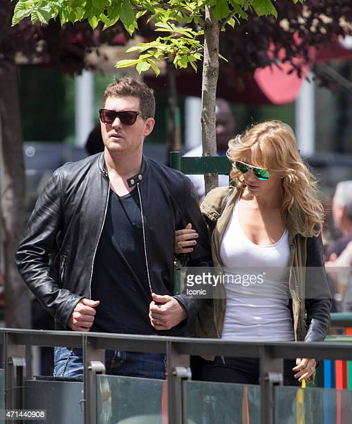 Michael Buble and Luisana Lopilato sighting on April 28 2015 in Madrid Spain