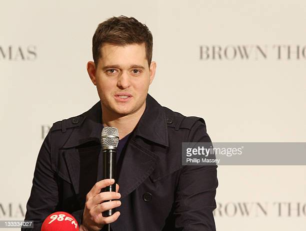 Michael Buble attends the launch of Brown Thomas' Christmas windows on November 18, 2011 in Dublin, Ireland.