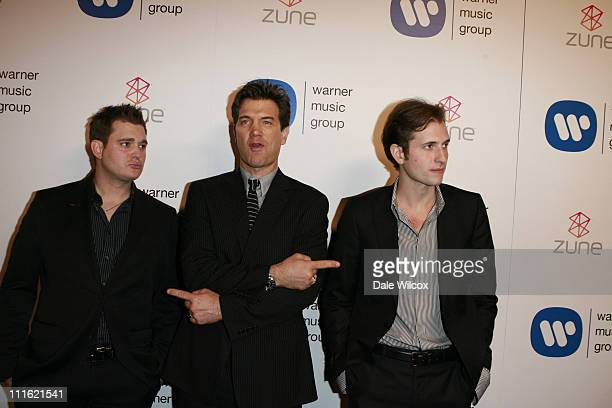 Michael Buble Chris Isaak and Peter Cincotti during The 49th Annual GRAMMY Awards Warner Music Group After Party Arrivals at The Cathedral in Los...