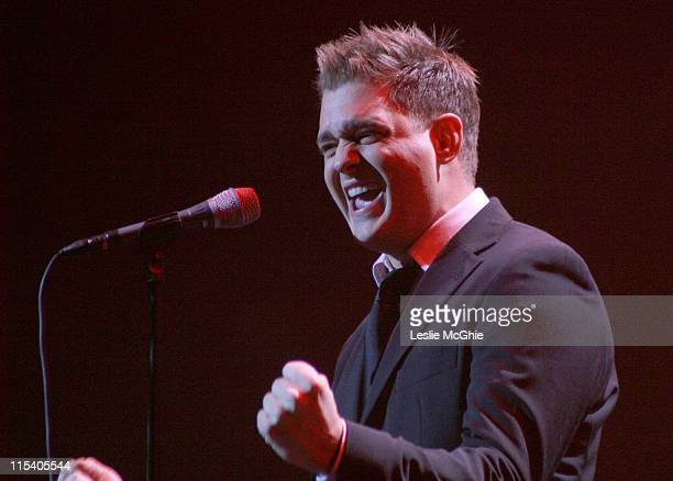 Michael Buble during Michael Buble in Concert at the Apollo in London November 15 2005 at Apollo in London Great Britain