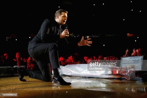 Michael Buble performs at Allianz Stadium on October 5 2018 in Sydney Australia