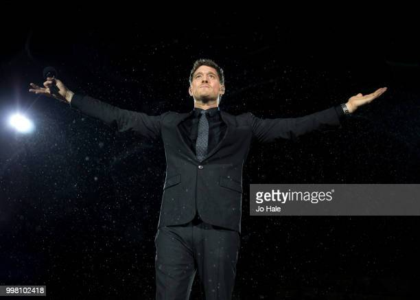 Michael Buble performs at Barclaycard present British Summer Time at Hyde Park on July 13 2018 in London England