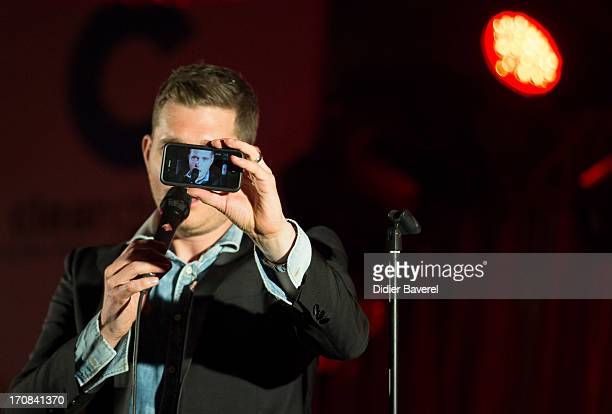 Michael Buble performs at Clear Channel Media and Entertainment and MediaLink VIP Event at Hotel Du CapEdenRoc on June 18 2013 in Cannes France