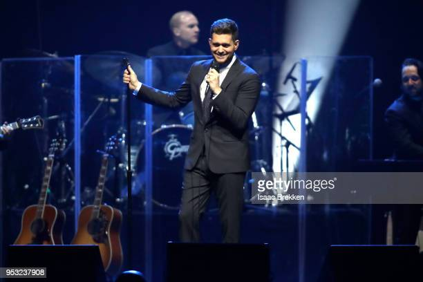 Michael Buble performs during the 22nd annual Keep Memory Alive 'Power of Love Gala' benefit for the Cleveland Clinic Lou Ruvo Center for Brain...