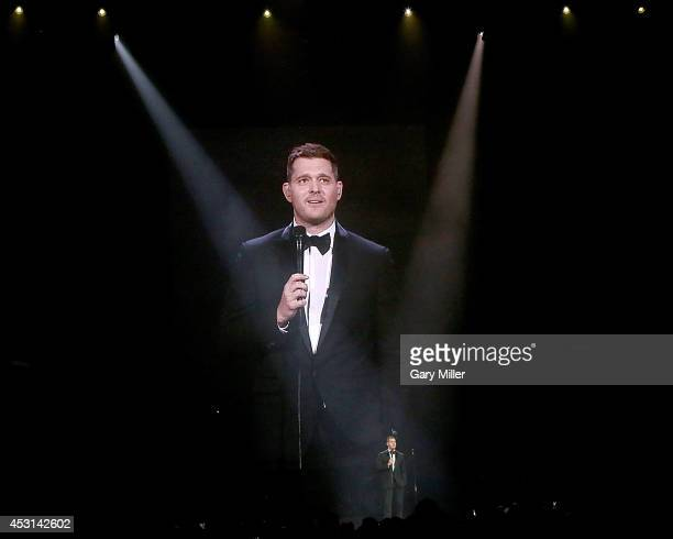 Michael Buble performs in concert at the Frank Erwin Center on August 3 2014 in Austin Texas