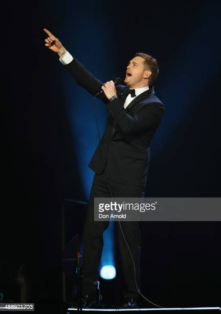 Michael Buble performs live at Allphones Arena on May 9, 2014 in Sydney, Australia.