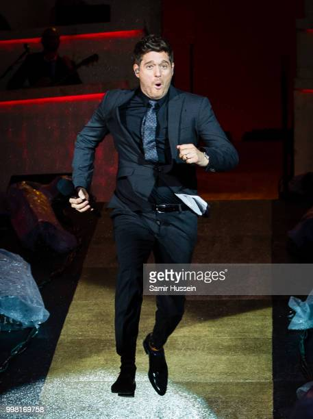 Michael Buble performs live at Barclaycard present British Summer Time Hyde Park at Hyde Park on July 13 2018 in London England