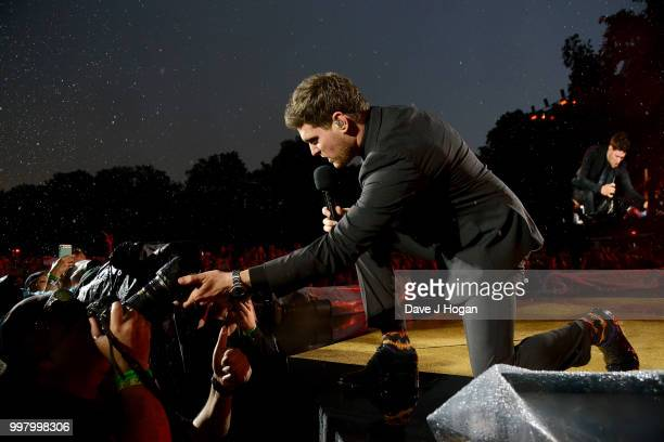 Michael Buble performs on stage as Barclaycard present British Summer Time Hyde Park at Hyde Park on July 13 2018 in London England
