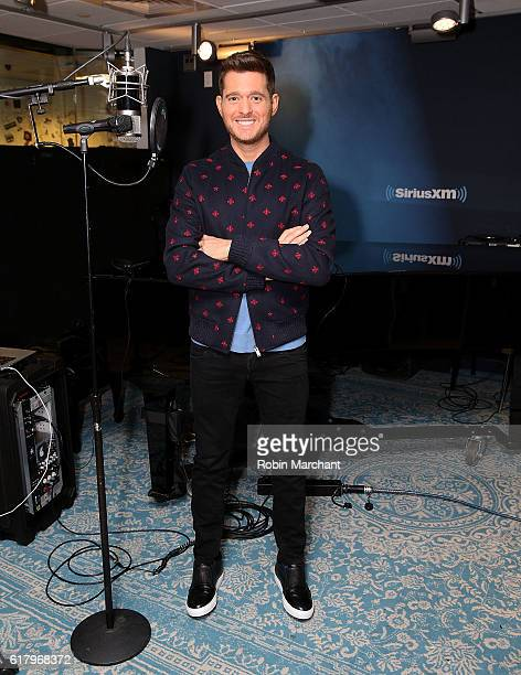 Michael Buble visits at SiriusXM Studio on October 25 2016 in New York City
