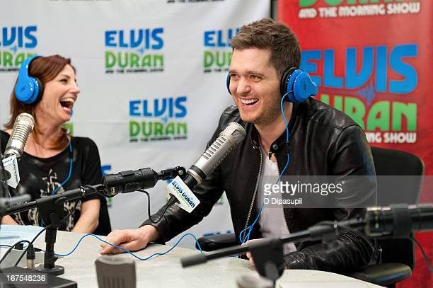Michael Buble visits the Elvis Duran Z100 Morning Show at Z100 Studio on April 26 2013 in New York City