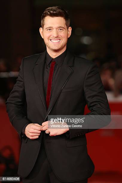 Michael Buble walks a red carpet for 'Tour Stop 148' during the 11th Rome Film Festival at Auditorium Parco Della Musica on October 14 2016 in Rome...