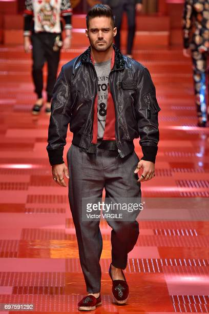 Michael Buble walks the runway at the Dolce Gabbana show during Milan Men's Fashion Week Spring/Summer 2018 on June 17 2017 in Milan Italy