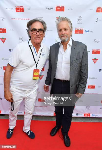 Michael Budman and actor Michael Douglas attend the Dave Thomas And The Second City Present 'Take Off EH' An AllStar Benefit For Jake Thomas And...