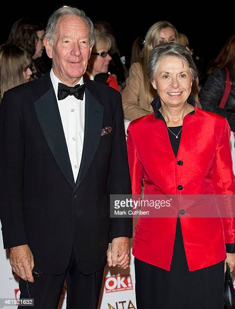 Michael Buerk and Christine Buerk attend the National Television Awards at 02 Arena on January 21 2015 in London England