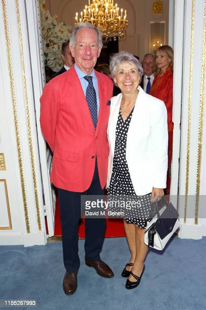 Michael Buerk and Christine Burek attend the Reinvented and Reimagined Mandarin Oriental Hyde Park London relaunch party on June 11 2019 in London...