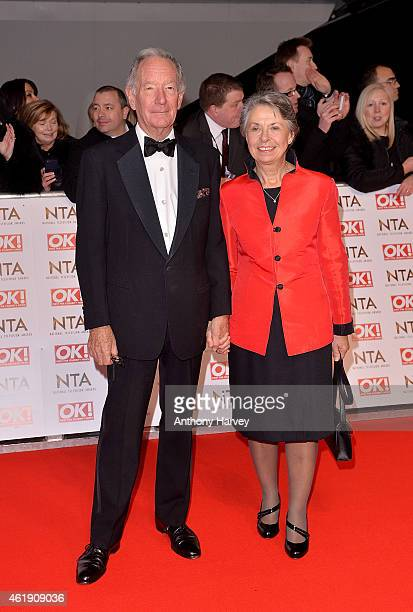 Michael Buerk and wife Christine attend the National Television Awards at 02 Arena on January 21 2015 in London England