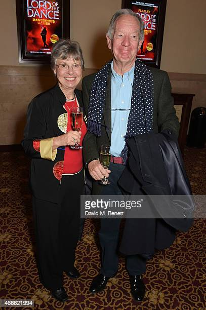Michael Buerk and wife Christine Buerk attend the after party following the Gala Performance of Lord Of The Dance Dangerous Games at The Dominion...