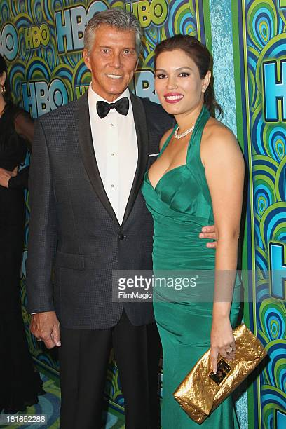 Michael Buffer and Christine Buffer attend HBO's official Emmy After Party at The Plaza at the Pacific Design Center on September 22 2013 in Los...