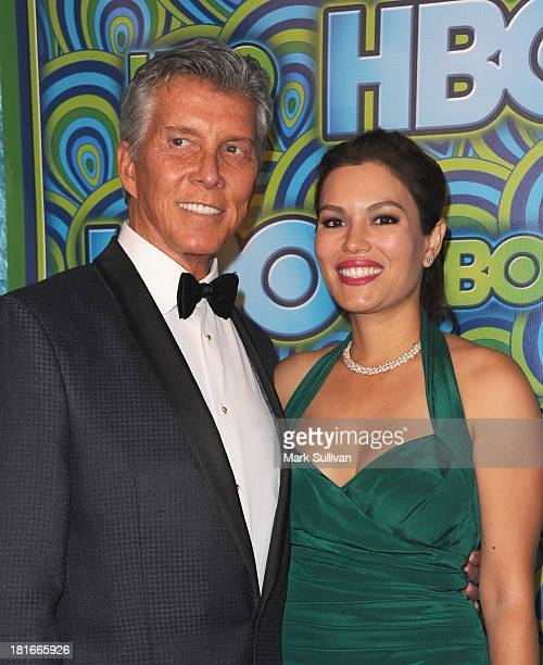 Michael Buffer and Christine Buffer attend HBO's Post Emmy Awards party at Pacific Design Center on September 22, 2013 in West Hollywood, California.