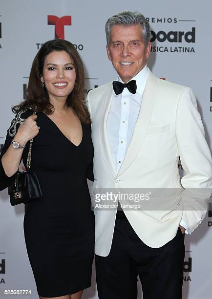 Michael Buffer and Christine Buffer attend the Billboard Latin Music Awards at Bank United Center on April 28, 2016 in Miami, Florida.
