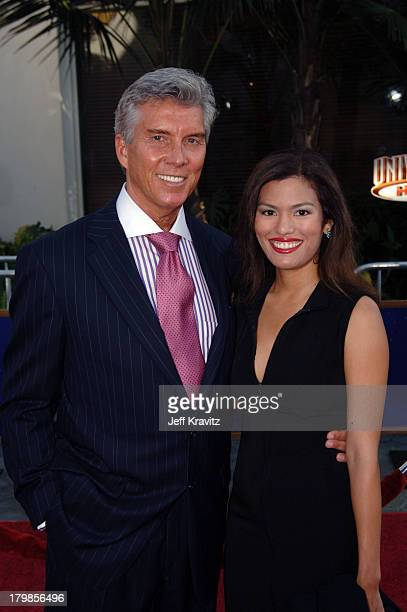 Michael Buffer and Christine during Cinderella Man Los Angeles Premiere at Gibsob Amphitheater in Universal City, California, United States.