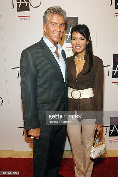 Michael Buffer and Christine Pado during Tao's One-Year Anniversary at The Venetian Hotel and Casino Resort at Tao Nightclub at The Venetian Hotel...