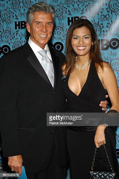 Michael Buffer and Christine Prado attend HBO hosts Emmy Awards After Party at Pacific Design Center on September 18 2005 in West Hollywood CA