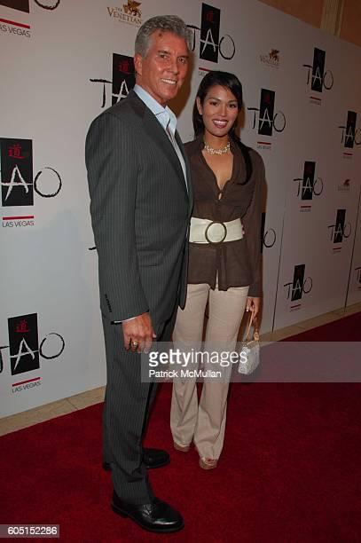 Michael Buffer and Christine Prado attend TAO Las Vegas One Year Anniversary Party at TAO Las Vegas at The Venetian on September 29 2006 in Las Vegas...