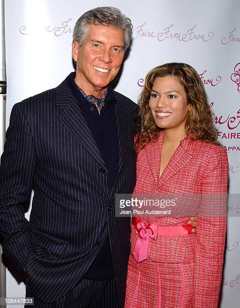 Michael Buffer and Christine Prado during Faire Frou Frou Grand Opening Celebration Arrivals at Faire Frou Frou Boutique in Studio City California...
