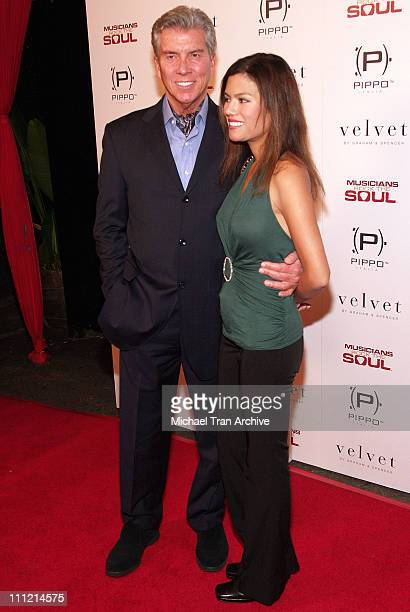 Michael Buffer and Christine Prado during Musicians Rock the Soul AMA After Party at Previlege in Hollywood, CA, United States.