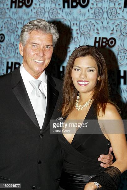 Michael Buffer and Christine Prado during The 57th Annual Emmy Awards HBO After Party in Los Angeles California United States