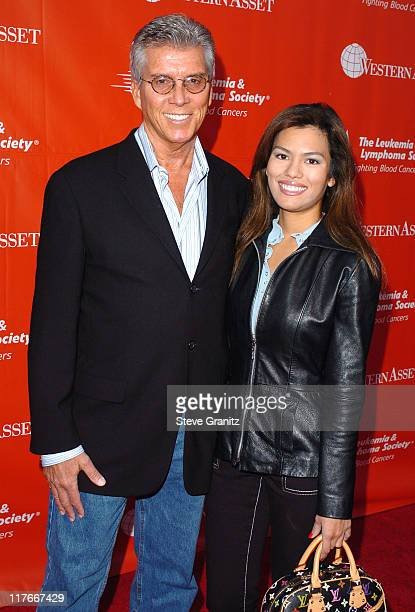 Michael Buffer and Christine Prado during The Leukemia Lymphoma Society Presents The Inaugural Celebrity Rock 'N Bowl Event at Lucky Strike Lanes in...