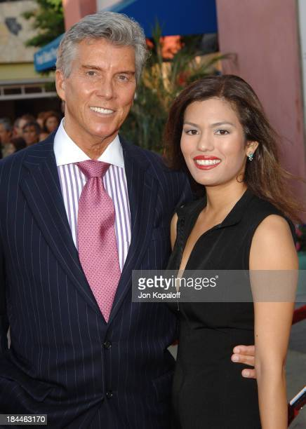 """Michael Buffer and guest Christine during """"Cinderella Man"""" Los Angeles Premiere at Gibsob Amphitheater in Universal City, California, United States."""