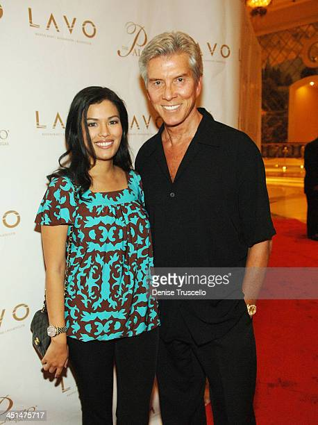 Michael Buffer and his wife arrive at the Grand Opening of LAVO Restaurant and Nightclub at The Palazzo The Venetian Hotel and Casino Resort on...