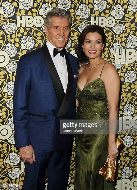 Michael Buffer and wife Christine Buffer attend HBO's post 2016 Golden Globe Awards party at Circa 55 Restaurant on January 10 2016 in Los Angeles...