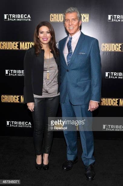 Michael Buffer and wife Christine Buffer attend the Grudge Match screening benefiting the Tribeca Film Institute at the Ziegfeld Theater on December...