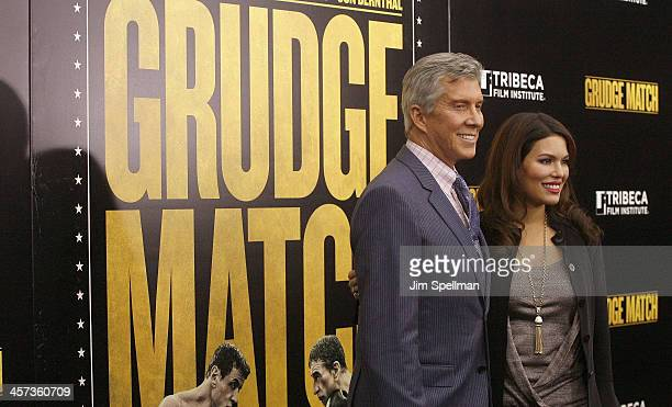 Michael Buffer and wife Christine Buffer attend the Grudge Match screening benifiting the Tribeca Film Insititute at Ziegfeld Theater on December 16...