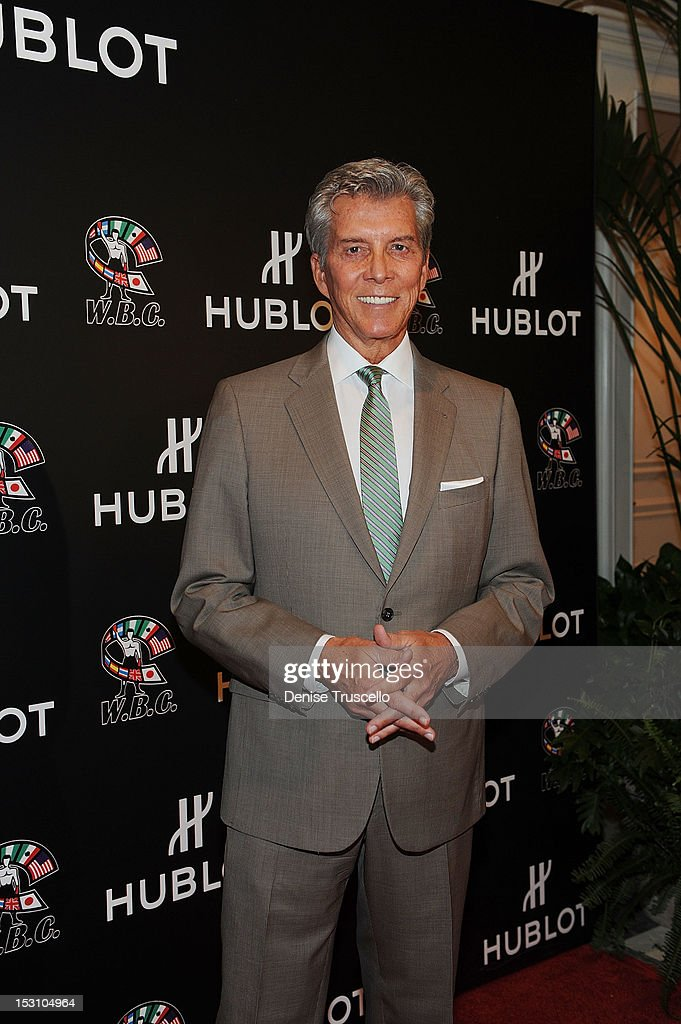 Michael Buffer attends 'A Legendary Evening With Hublot And WBC' at Bellagio Las Vegas on September 29, 2012 in Las Vegas, Nevada.