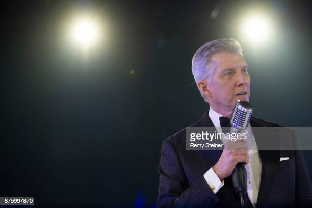 Michael Buffer speaks on stage during the 11th Laureus Charity Night at Hangar Duebendorf on November 18 2017 near Zurich Switzerland During the...
