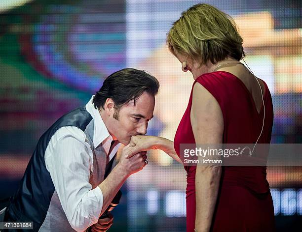 Michael 'Bully' Herbig and Suzanne von Borsody attend the Radio Regebenbogen Award Show 2015 at Europapark on April 24 2015 in Rust Germany