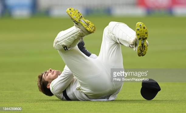 Michael Burgess of Warwickshire catches Tom Bailey of Lancashire in the Bob Willis Trophy Final between Warwickshire and Lancashire at Lord's Cricket...