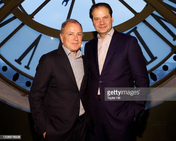 Michael Burke and Max Hollein attend the press preview of About Time Fashion and Duration the 2020 Metropolitan Museum of Art Costume Institute...