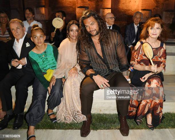 Michael Burke Lola Iolani Momoa Lilakoi Moon Jason Momoa and Susan Sarandon attends the Fendi Couture Fall Winter 2019/2020 Show on July 04 2019 in...