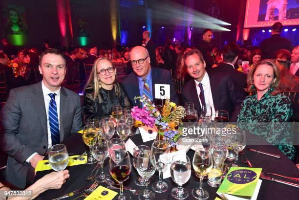 Michael Burke Renee Richards John Hill Drakes Peery and Rita Peery attend NYU Tisch School of the Arts GALA 2018 at Capitale on April 16 2018 in New...