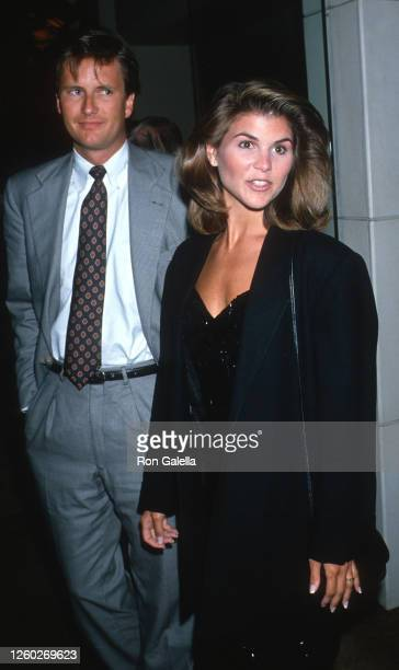 Michael Burns and Lori Loughlin attend ABC Affiliates Dinner at the Century Plaza Hotel in Century City, California on June 14, 1989.