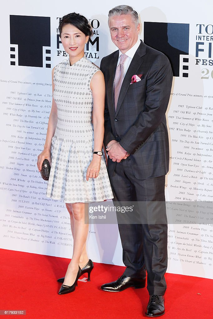 Michael C. Ellis, President and Managing Director of the Asia-Pacific Region for the Motion Picture Association (R) attends the Tokyo International Film Festival 2016 Opening Ceremony at Roppongi Hills on October 25, 2016 in Tokyo, Japan.