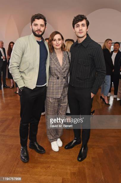 Michael C Fox Laura Carmichael wearing Paul Smith and Jonah HauerKing wearing Paul Smith attend the Paul Smith AW20 50th Anniversary show as part of...