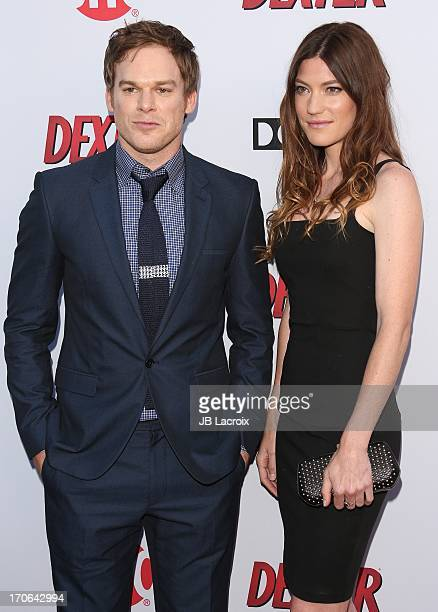 Michael C Hall and Jennifer Carpenter attends the Dexter series finale season premiere party at Milk Studios on June 15 2013 in Hollywood California